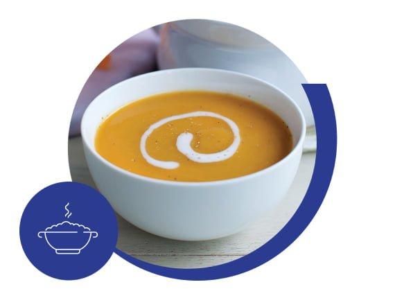 Primer paso Alimentos con textura suave: los purés